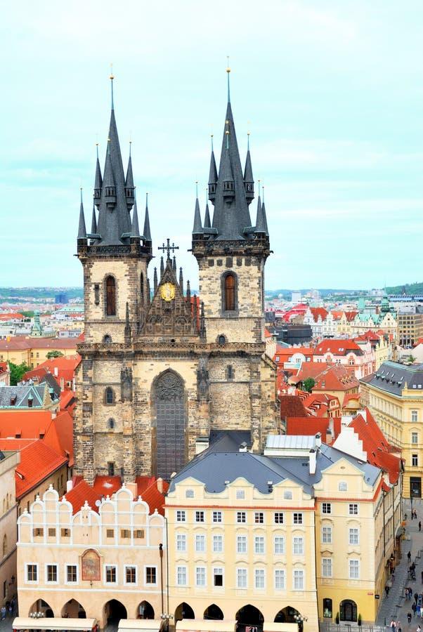 我们的在Tyn前面的夫人教会在布拉格 免版税图库摄影