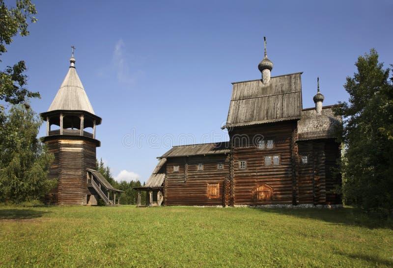 我们的夫人教会在Khokhlovka 电烫krai,俄罗斯 免版税库存图片