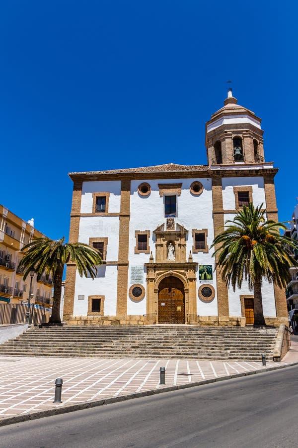 我们的夫人Of索乔尔罗教会在朗达(西班牙) 库存图片