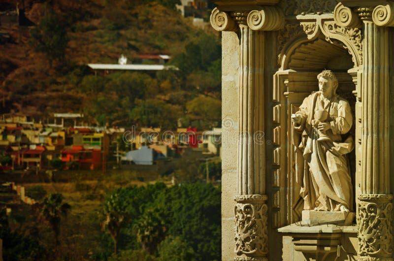 我们的孑然的夫人大教堂在瓦哈卡de华雷斯,墨西哥 免版税库存照片