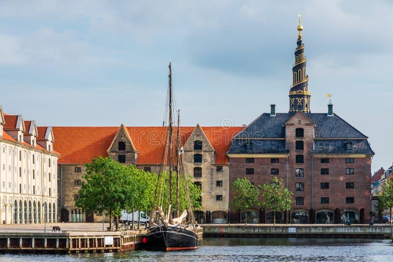 我们的救主和Christianshavn教会  库存图片