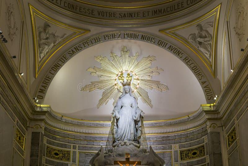 我们的神奇的奖牌的夫人教堂,巴黎,法国 免版税库存图片