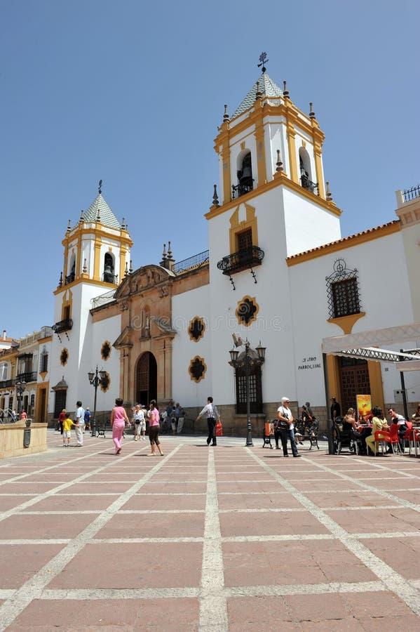 我们的索乔尔罗,朗达,马拉加的夫人教会省,西班牙 免版税库存照片