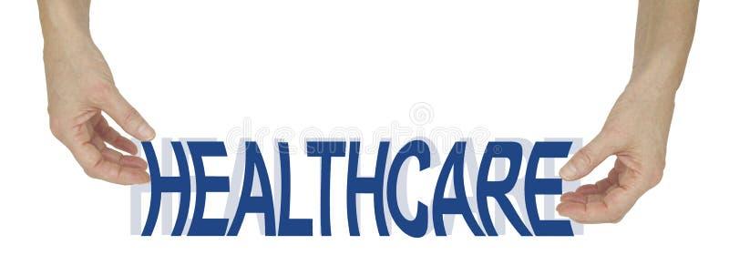 我们的医疗保健被紧压 库存图片