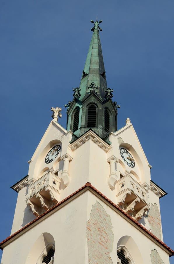 我们的Protectress夫人天主教会圆顶在斯特雷,乌克兰 免版税库存图片
