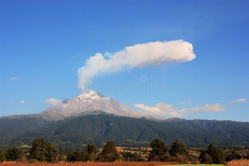 我popo火山 免版税图库摄影