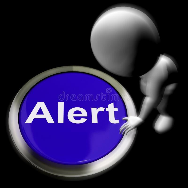 戒备按了展示警告小心或发出警报 库存例证