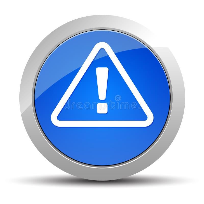 戒备象蓝色圆的按钮例证 库存例证