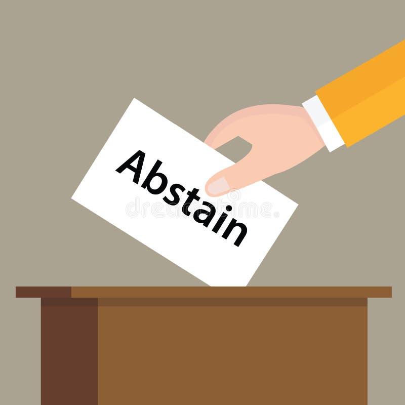 戒投入选票的挑选表决手在箱子槽孔  皇族释放例证