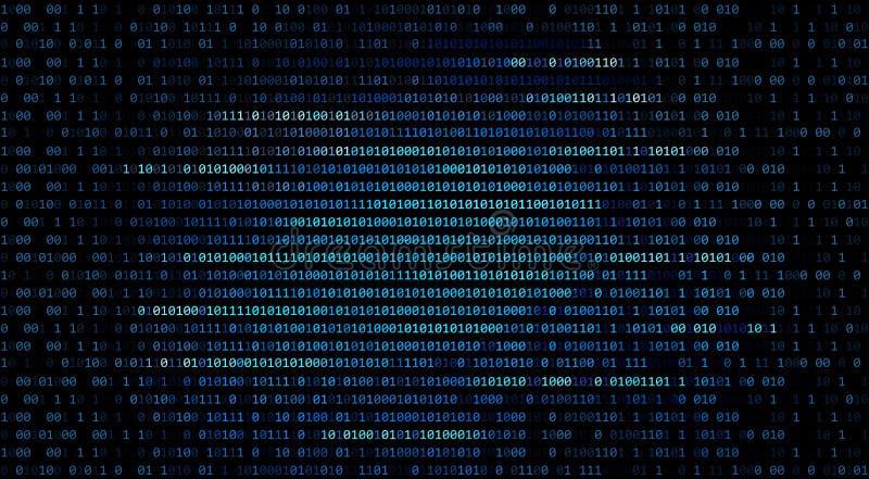 01或在计算机上的二进制编码数字在数字资料technol 向量例证