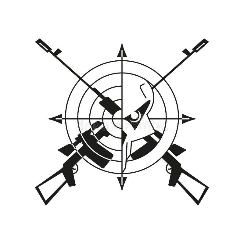 战争商标头骨 免版税库存照片