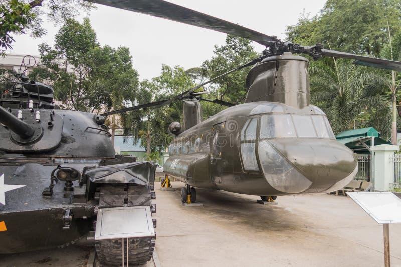 战争残余博物馆在胡志明市前西贡 免版税库存照片