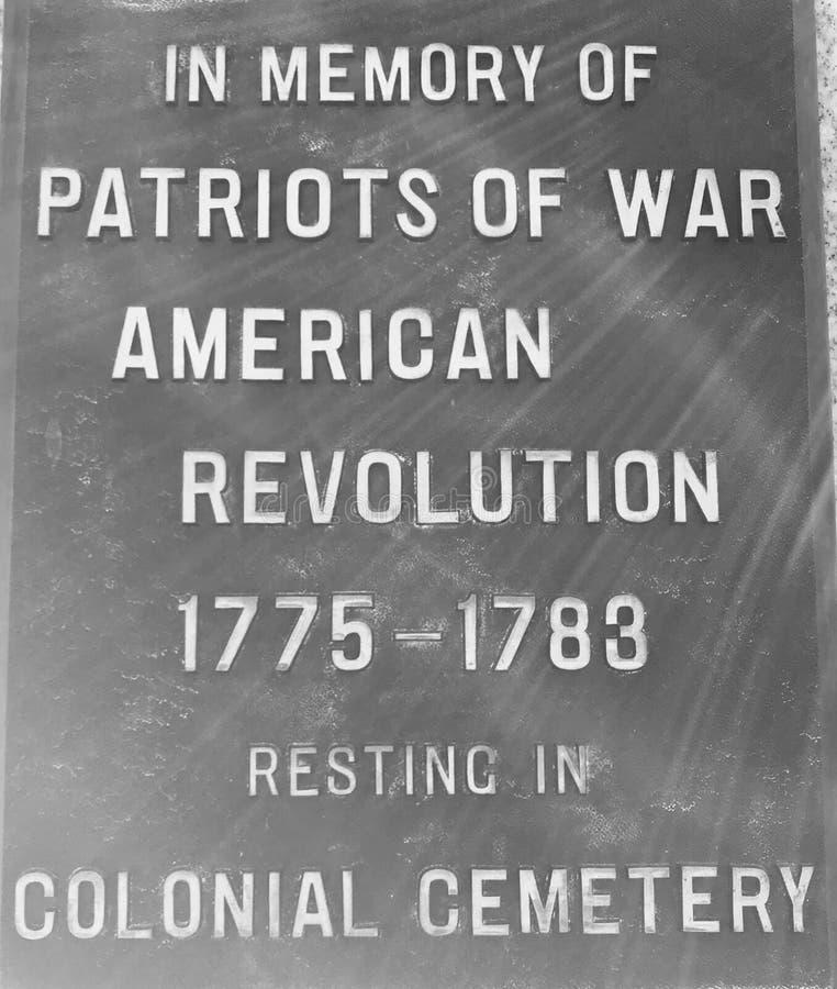 战争的美国革命的爱国者的-大草原,乔治亚公墓 图库摄影