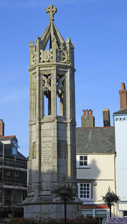 战争纪念建筑朗塞斯顿 免版税图库摄影