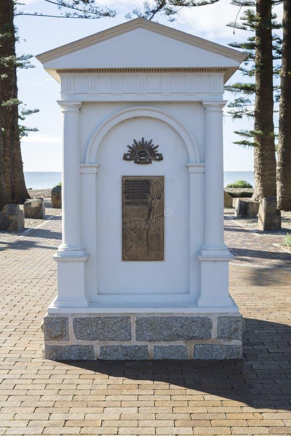 战争纪念建筑,胜者港口,南澳大利亚 免版税库存图片