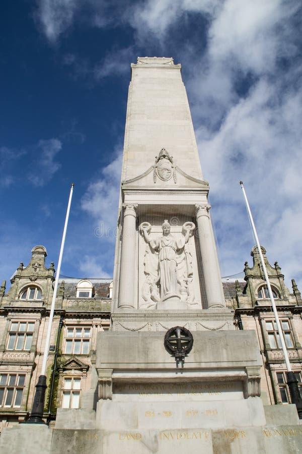 战争纪念碑普雷斯顿,英国。 库存图片