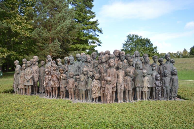 战争纪念建筑在利迪策 图库摄影