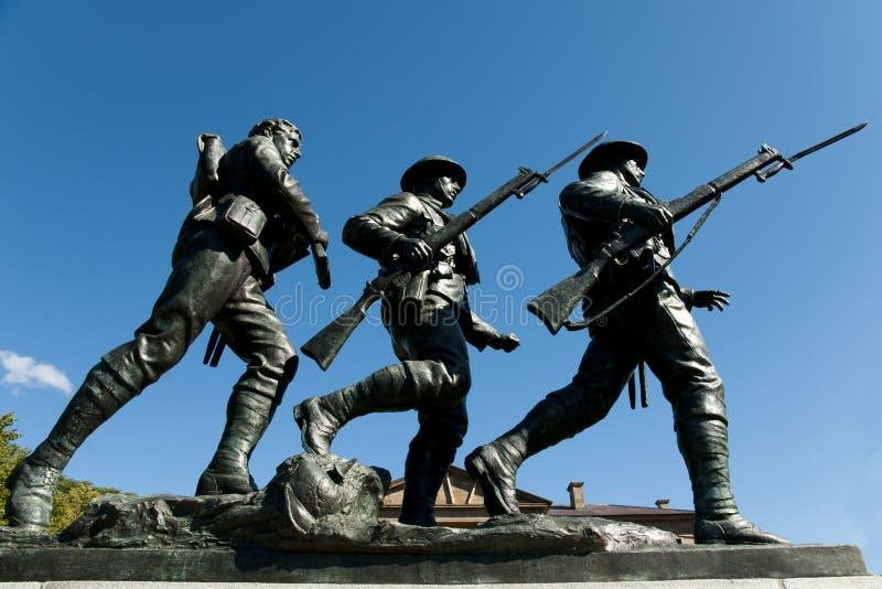 战争纪念建筑纪念碑-夏洛特敦-加拿大 免版税库存图片