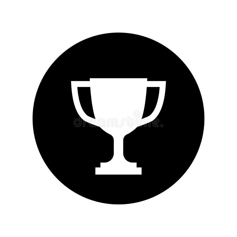战利品在黑圈子简单的优胜者象的杯子象 向量例证
