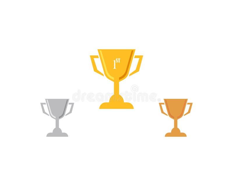 战利品杯子传染媒介象优胜者标志例证 向量例证