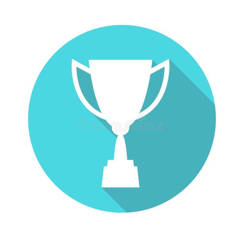 战利品杯子传染媒介象,平的设计 概念赢取,胜利,冠军,质量 皇族释放例证