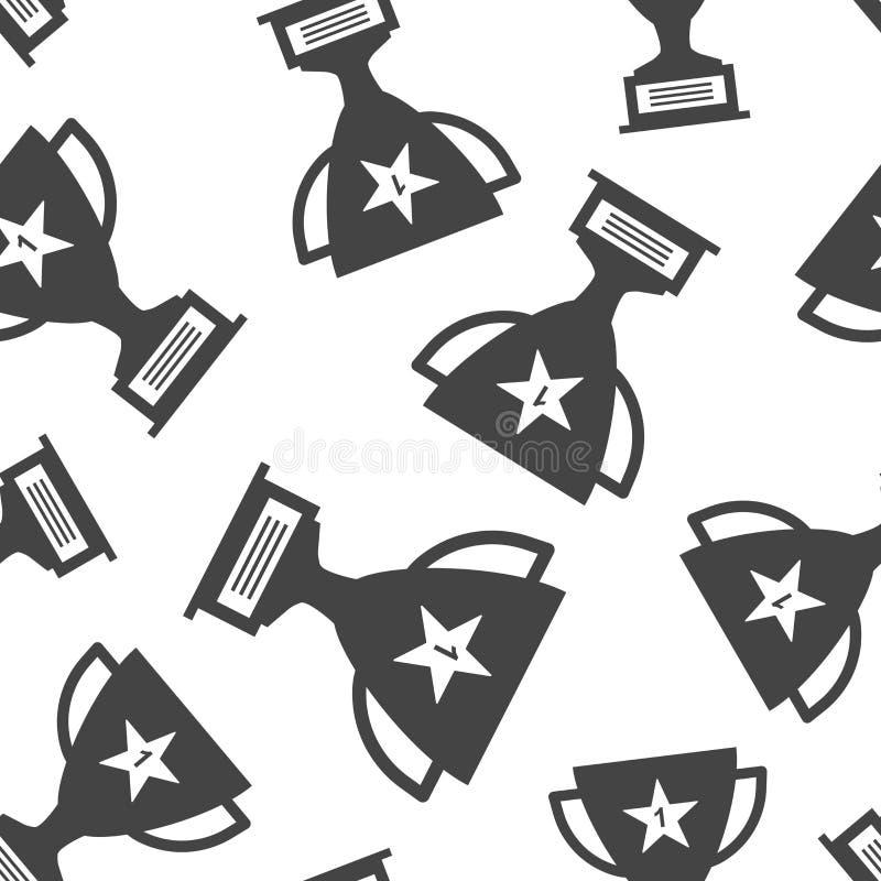 战利品杯子无缝的样式背景 企业平的传染媒介不适 库存例证