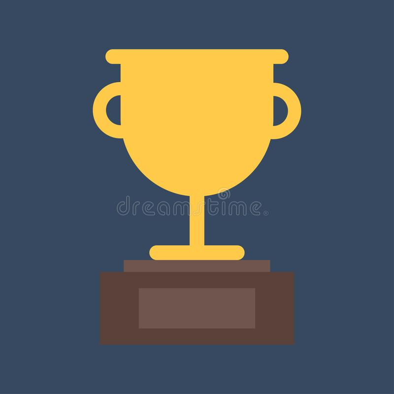 战利品杯平的象 金优胜者杯子 最佳的奖励 向量例证