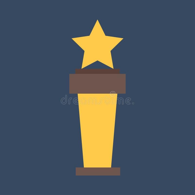 战利品杯平的象 金优胜者杯子 最佳的奖励 皇族释放例证