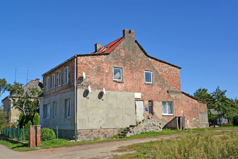战前建筑老公寓  Zad地区 免版税库存照片