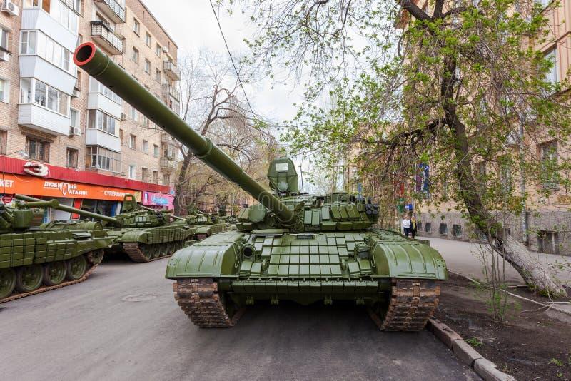 主战坦克T-72 库存照片