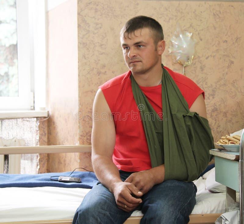 战士受伤 免版税图库摄影
