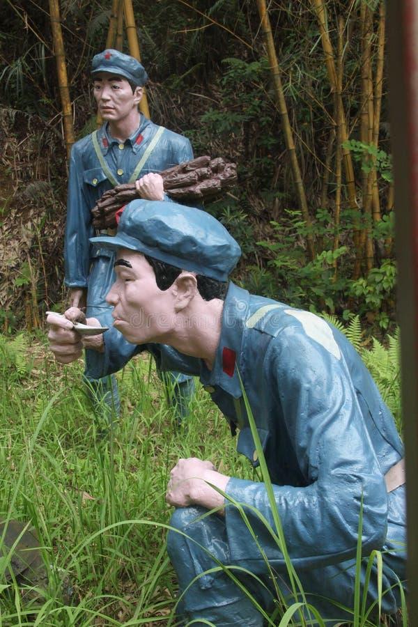 战士口味食物的雕象在红军Parkï ¼ Œshenzhen,瓷的 库存图片