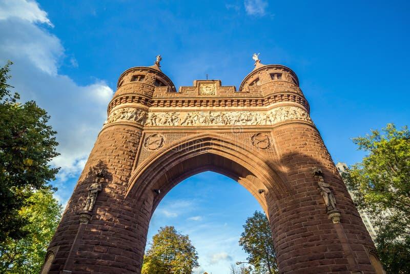战士和水手纪念曲拱在哈特福德 库存照片