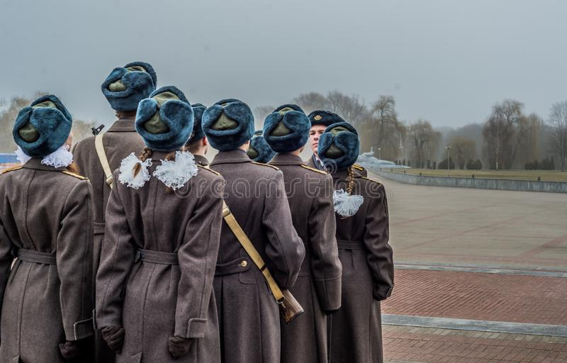战士在布雷斯特白俄罗斯 免版税图库摄影