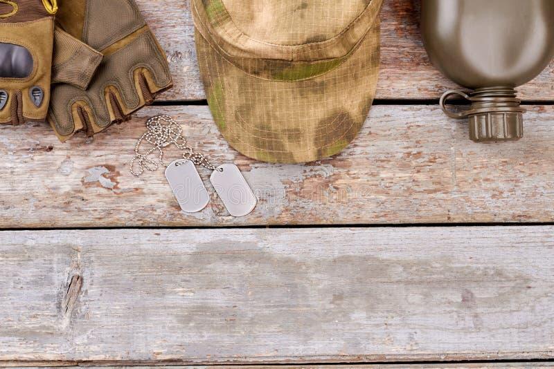 战士在木头的` s属性 库存照片