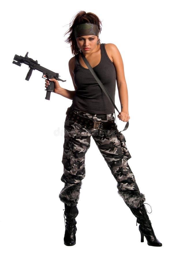 战士妇女 免版税图库摄影