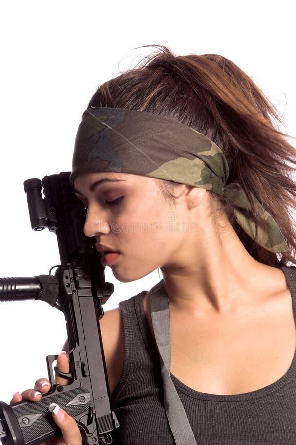 战士妇女 库存图片