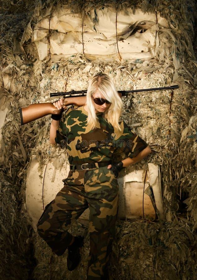 战士妇女 免版税库存照片