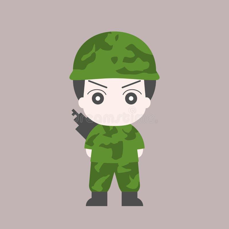 战士漫画人物 皇族释放例证