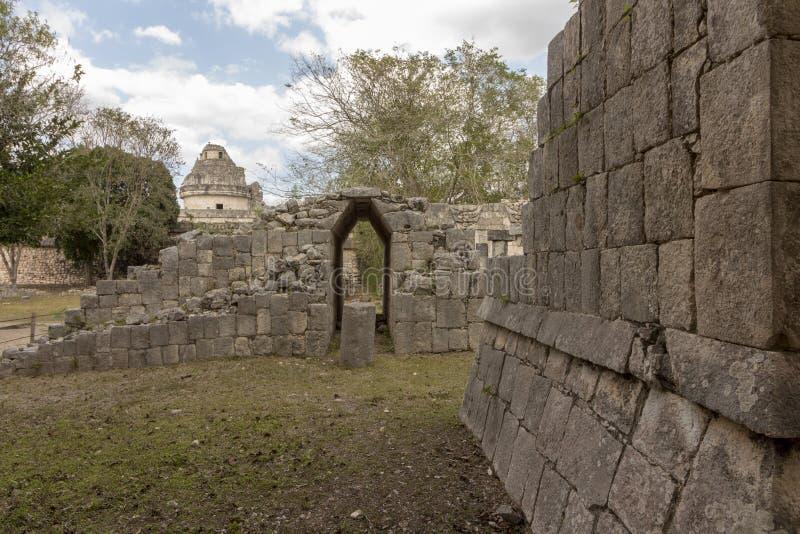 战士玛雅寺庙奇琴伊察的 库存图片