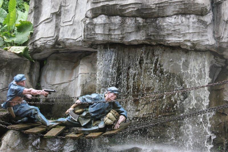 战士的雕象战争的在红军Parkï ¼ Œshenzhen,瓷 库存图片