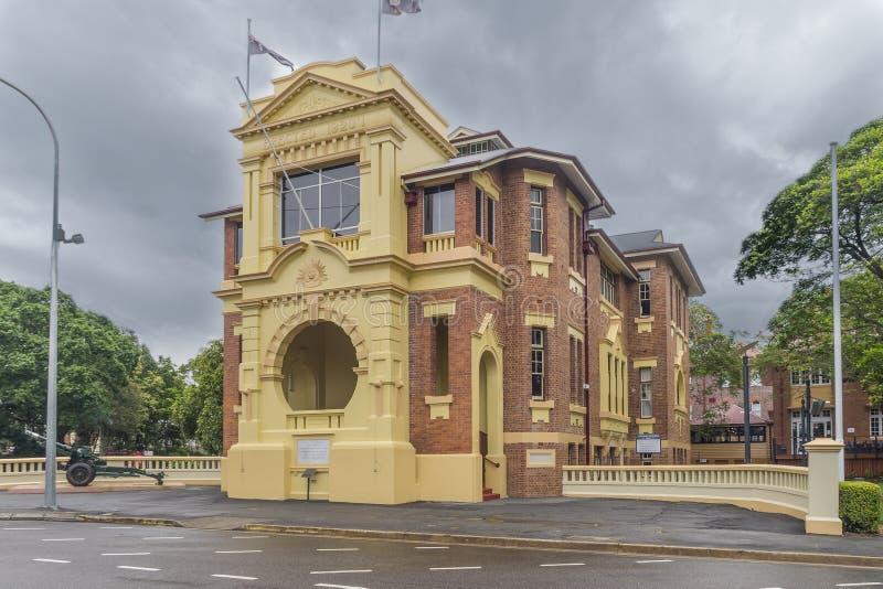 战士纪念堂在昆士兰 免版税库存照片