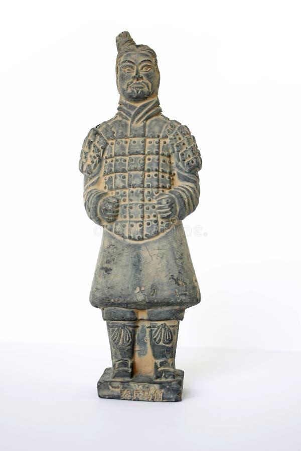 战士赤土陶器战士 免版税图库摄影