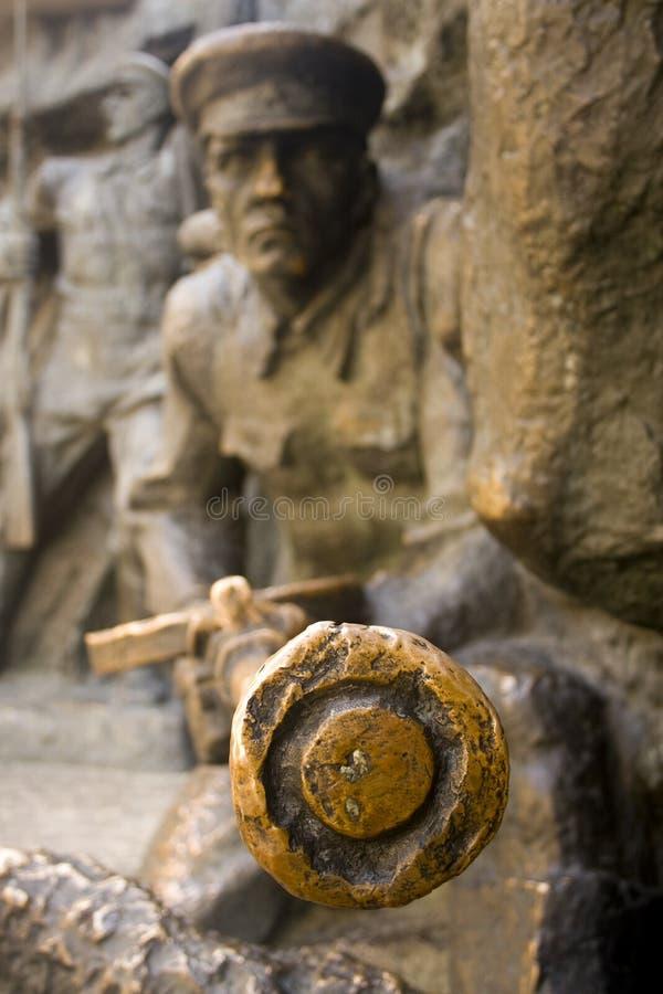 战士雕象 图库摄影