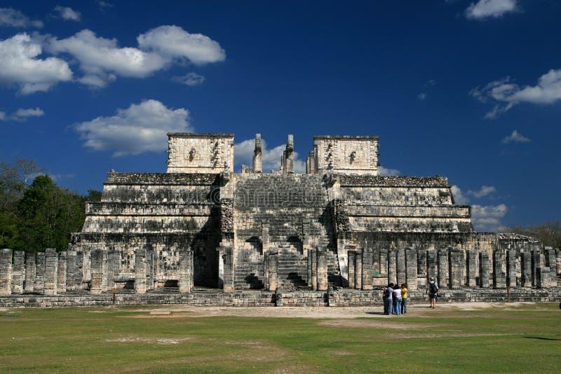 战士/奇琴伊察,墨西哥的寺庙 图库摄影