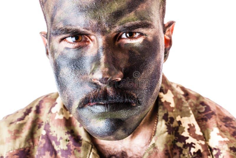 战士画象 库存照片