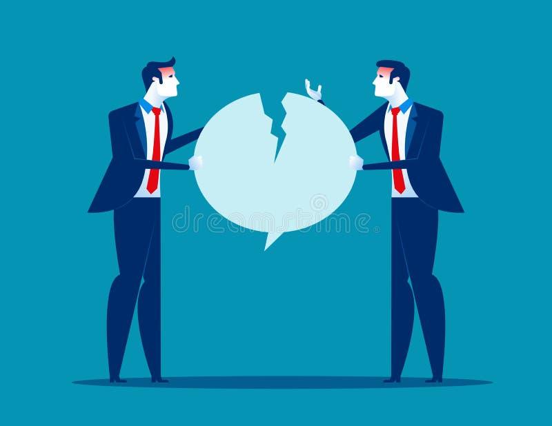 战斗在讲话泡影 在雇员之间的争吵 r 库存例证