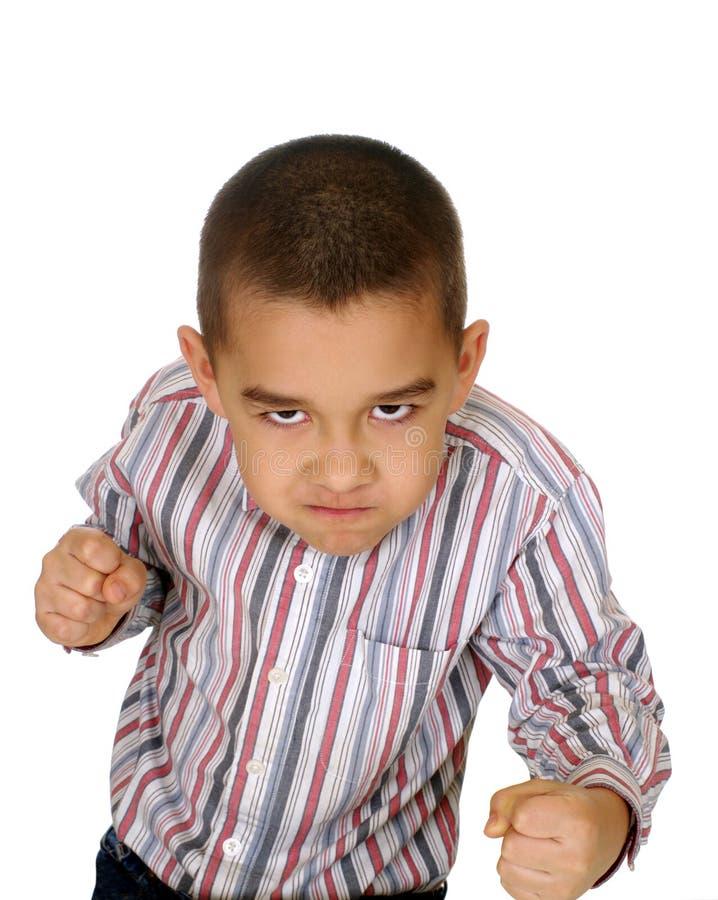 战斗孩子准备好 免版税库存照片