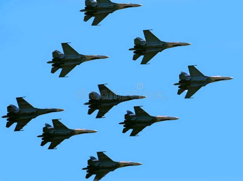 战斗机俄语 库存照片