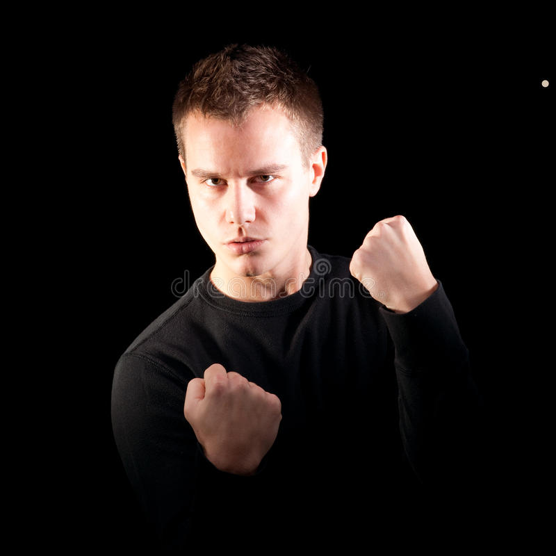 战斗机男性年轻人 免版税库存照片